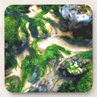 Abstract Beach Digital Painting landscape nature Drink Coasters