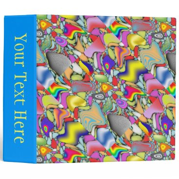 Beach Themed Abstract Beach Pebbles 3 Ring Binder