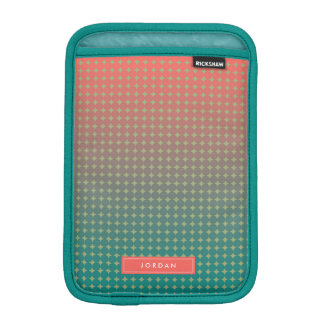 Abstract Beach Sunset Coral & Teal Personalized iPad Mini Sleeve