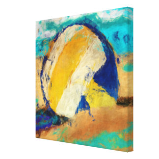 Abstract Beach Volleyball Canvas Print