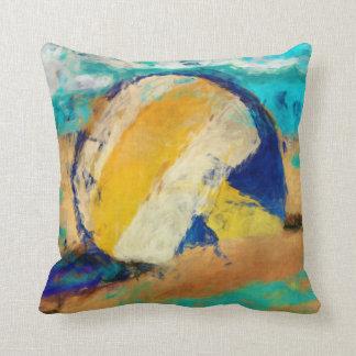 Abstract Beach Volleyball Pillow
