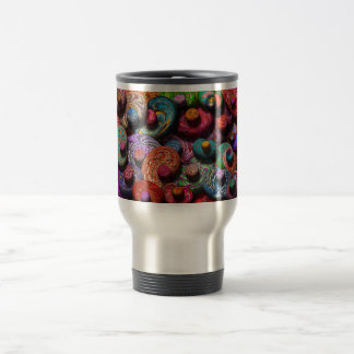 Abstract - Beans 15 Oz Stainless Steel Travel Mug