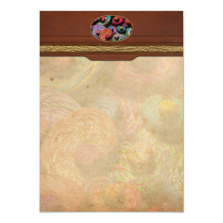 Abstract - Beans 5x7 Paper Invitation Card