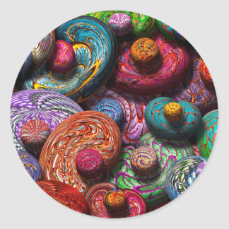 Abstract - Beans Round Stickers
