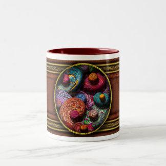 Abstract - Beans Two-Tone Coffee Mug