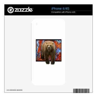 Abstract Bear iPhone 4S Skin