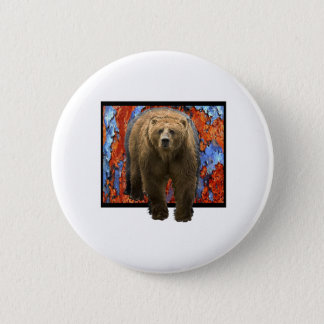 Abstract Bear Pinback Button