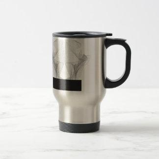Abstract Bear Skull Travel Mug