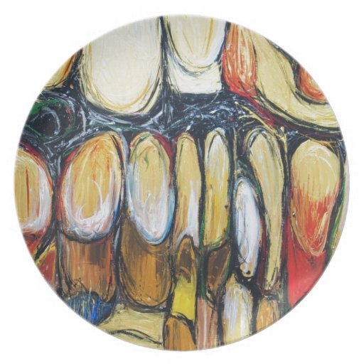 Abstract Beast of the Apocalypse (abstract animal) Party Plate