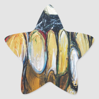 Abstract Beast of the Apocalypse (abstract animal) Star Sticker