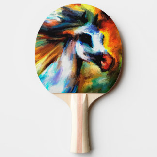 Abstract Beautiful Horse Art Gray White equestrian Ping Pong Paddle