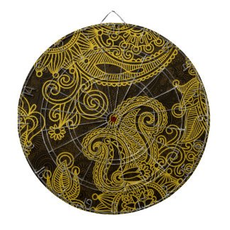 Abstract beautiful Indian floral pattern Dartboard With Darts