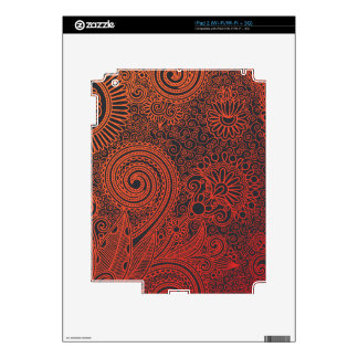 Abstract beautiful Indian floral pattern Decals For The iPad 2