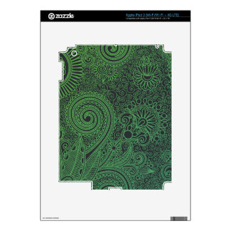 Abstract beautiful Indian floral pattern iPad 3 Decal