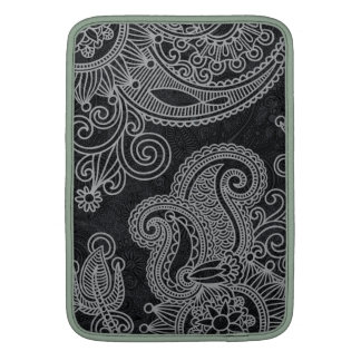 Abstract beautiful Indian floral pattern MacBook Sleeve