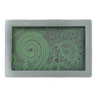Abstract beautiful Indian floral pattern Rectangular Belt Buckle