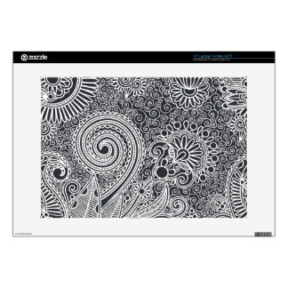 Abstract beautiful Indian floral pattern Skin For Laptop