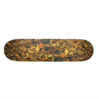 Abstract Beech and oak leaves in ice Skate Board