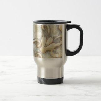 Abstract Beige Tile Pattern Travel Mug