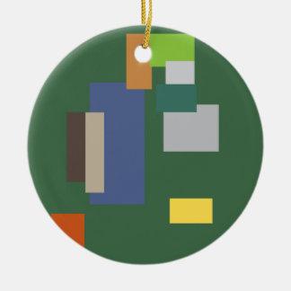 Abstract Belgian Design Ceramic Ornament