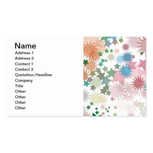 abstract-bg-1, Name, Address 1, Address 2, Cont... Double-Sided Standard Business Cards (Pack Of 100)