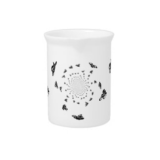 Abstract Bicycle Race Artwork Beverage Pitchers