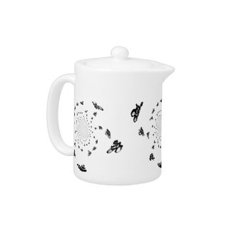 Abstract Bicycle Race Artwork Teapot