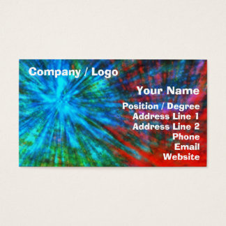 Abstract Big Bangs 001 Multicolored Business Card