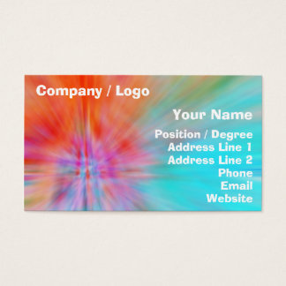 Abstract Big Bangs 002 Multicolored Business Card