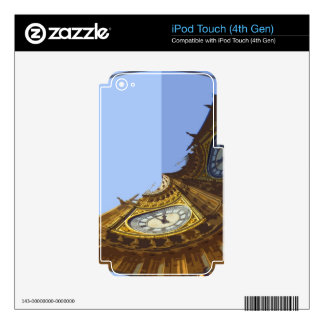 ABSTRACT BIG BEN iPod TOUCH 4G SKINS