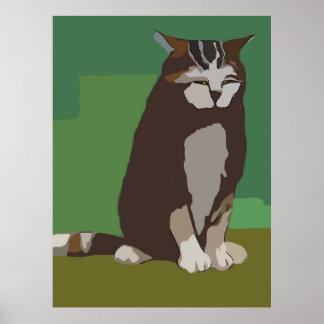 Abstract Big Cat Print