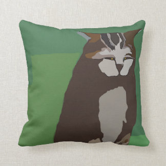 Abstract Big Cat Throw Pillow