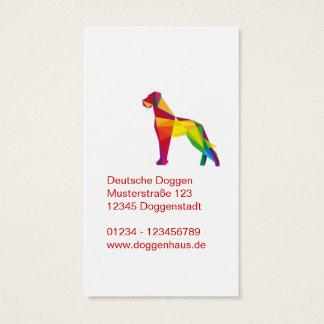 Abstract big dog business card