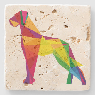 Abstract big dog stone beverage coaster