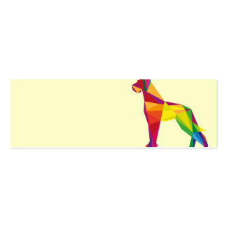 Abstract big dog mini business card