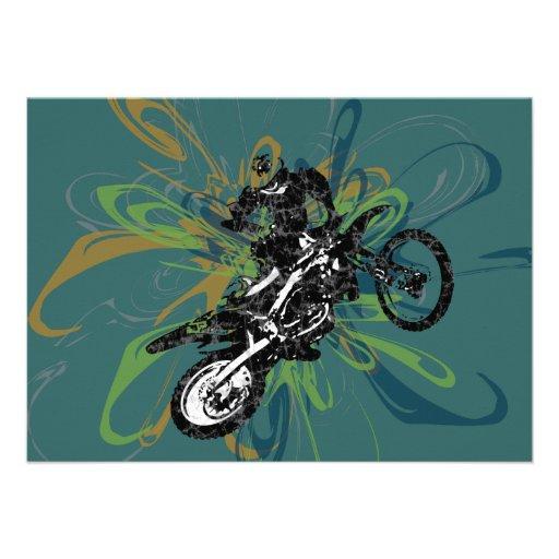 Abstract Biker Custom Party Invitations