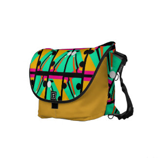 Abstract Billiards Cue Shot Pattern Messenger Bag