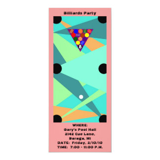 Abstract BILLIARDS ~ POOL Table PARTY INVITATION