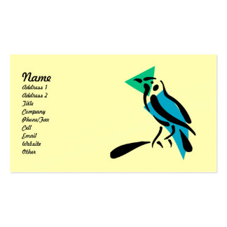Abstract Bird Business Cards