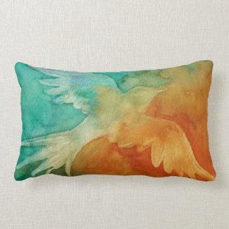 Abstract Bird in Flight Throw Pillow