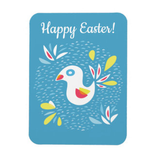 Abstract Bird In Spring Happy Easter Magnet