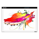 """Abstract Bird of Paradise Paint Splatters 17"""" Laptop Decal"""