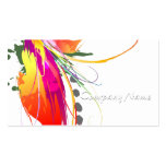 Abstract Bird of Paradise Paint Splatters Double-Sided Standard Business Cards (Pack Of 100)