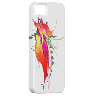 Abstract Bird of Paradise Paint Splatters iPhone SE/5/5s Case