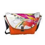 Abstract Bird of Paradise Paint Splatters Messenger Bags