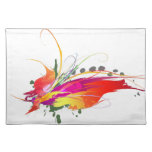 Abstract Bird of Paradise Paint Splatters Place Mats