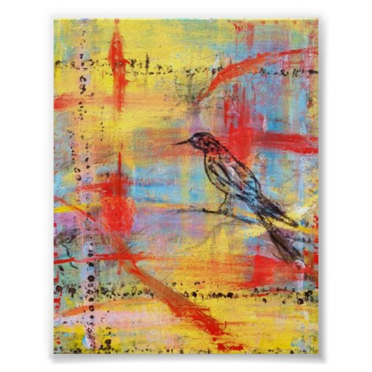Abstract Bird Series #11 Poster