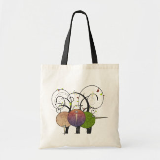 Abstract Birds and Trees Art Eco Friendly Tote Bag