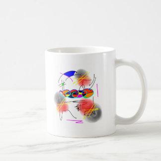 abstract birds coffee mug