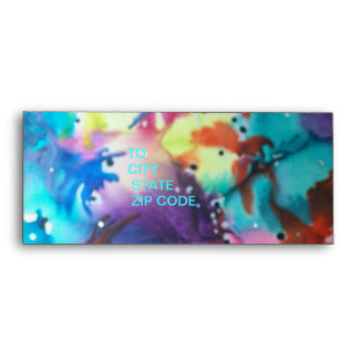 Abstract Birds In The Trees Envelope